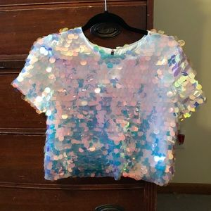 💕Forever 21 Sequined Shirt